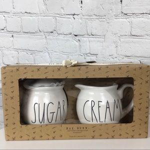 "Rae Dunn ""SUGAR & CREAM"" boxed set"